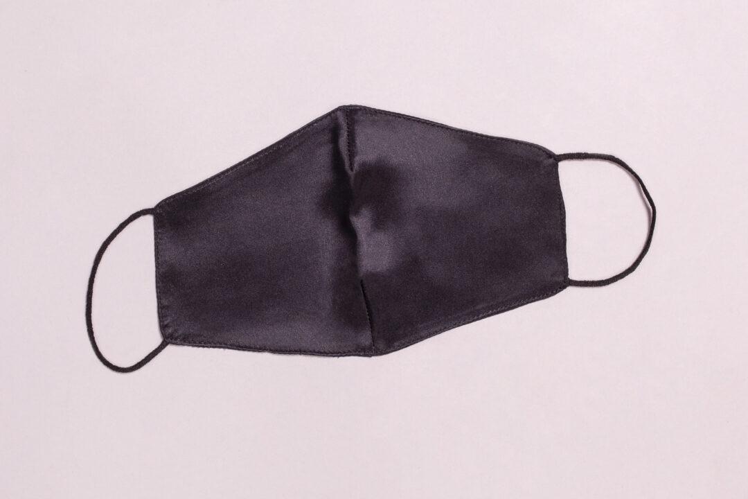 Svilena maska za lice, crna